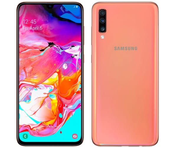 SAMSUNG GALAXY A70 NARANJA MÓVIL 4G DUAL SIM 6.7'' SUPER AMOLED FHD+/8CORE/128GB/6GB RAM/32MP+5MP+8MP/32MP