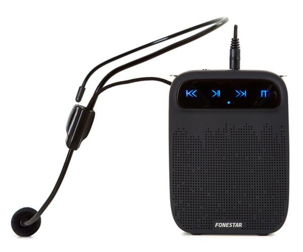 FONESTAR ALTA-VOZ AMPLIFICADOR PORTÁTIL PARA CINTURA CON MICRÓFONO Y GRABADOR USB/microSD/MP3