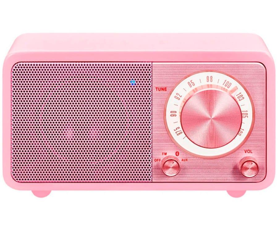 SANGEAN WR-7 ROSA RADIO ANALÓGICA SOBREMESA FM BLUETOOTH BATERÍA LI-ION RECARGABLE