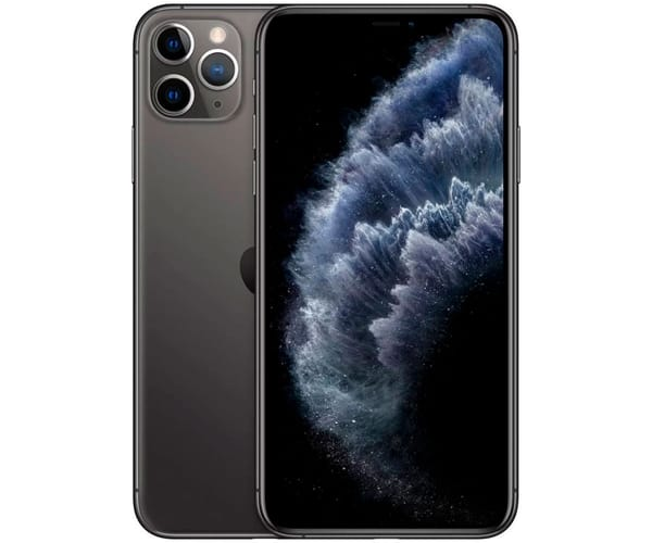 APPLE IPHONE 11 PRO MAX GRIS ESPACIAL MÓVIL DUAL SIM 4G 6.5'' SUPER RETINA XDR CPU A13/256GB/4GB RAM/12+12+12MP/12MP