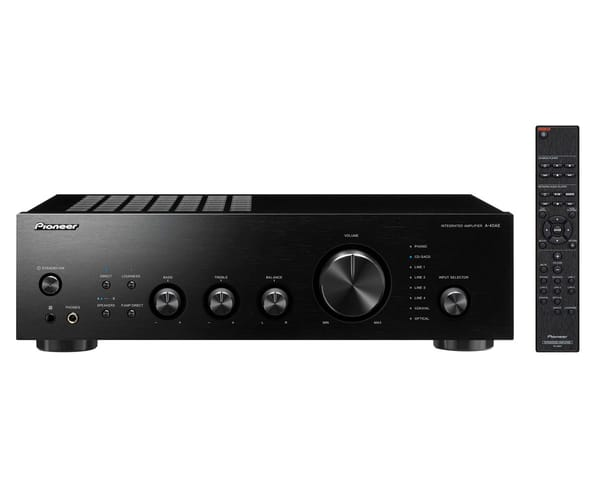 PIONEER A-40AE NEGRO AMPLIFICADOR INTEGRADO 2X60W CON DIRECT ENERGY DESING Y ENTRADA PHONO MM