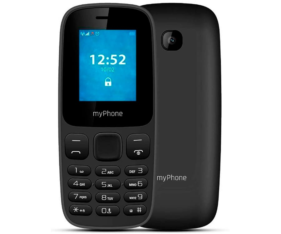 MYPHONE 3330 NEGRO MÓVIL 2G DUAL SIM 1.77'' CÁMARA 0.3MP BLUETOOTH SD FM MP3