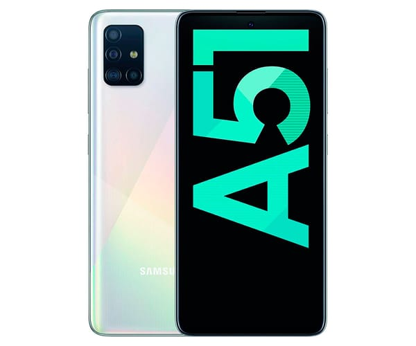SAMSUNG GALAXY A51 BLANCO MÓVIL 4G DUAL SIM 6.5'' SUPER AMOLED FHD+/8CORE/128GB/4GB RAM/48+12+5+5MP/32MP