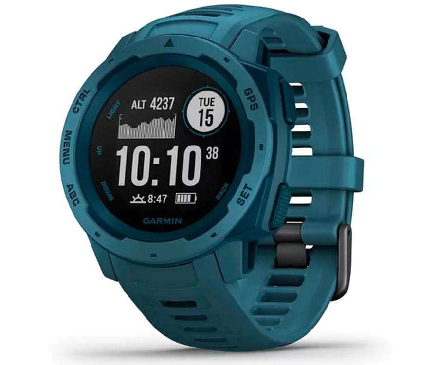 GARMIN INSTINCT LAKESIDE BLUE 45mm SMARTWATCH RESISTENTE GNSS GPS ANT+ BLUETOOTH