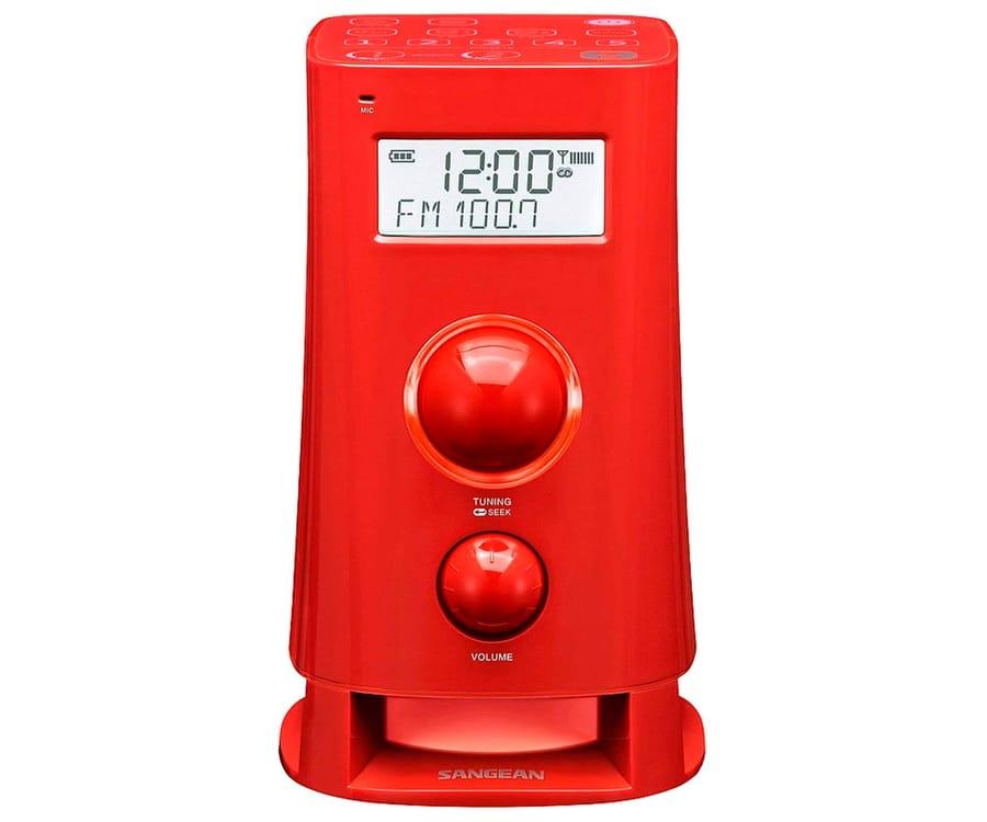 SANGEAN K-200 ROJO RADIO DESPERTADOR DIGITAL AM FM PANTALLA LCD 2.5''