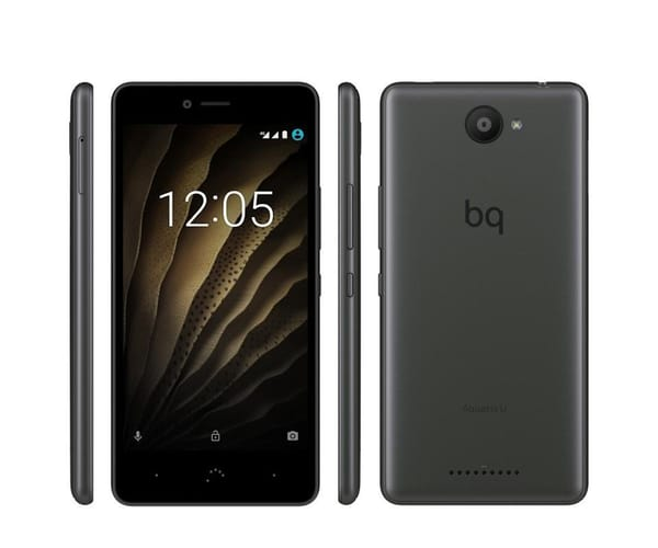 BQ AQUARIS U GRIS MÓVIL 3G 5'' IPS HD/8CORE/16GB/2GB RAM/13MP/5MP