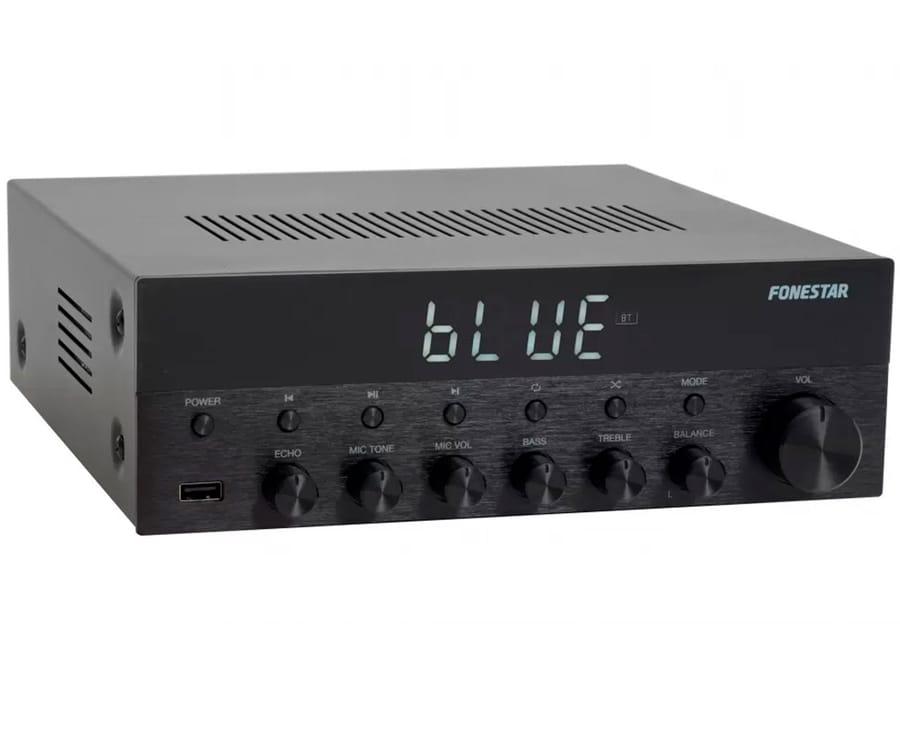 FONESTAR AS-1515 AMPLIFICADOR ESTÉREO HI-FI 15+15W BLUETOOTH USB MP3 FM ENTRADAS MICRO Y TONO