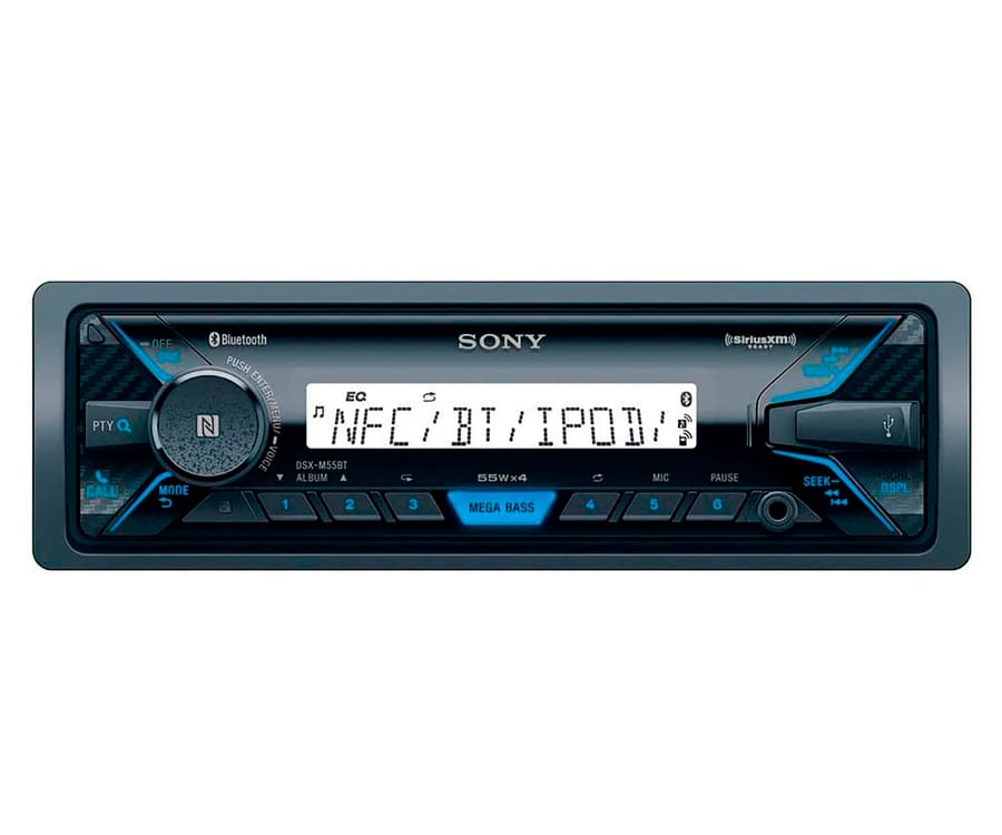 SONY DSX-M55BT RECEPTOR MULTIMEDIA BLUETOOTH NFC MEGA BASS RADIO FM/AM USB REPRODUCTOR Y AUX