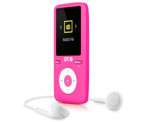 SPC PURE SOUND COLOUR 2 ROSA 8488P REPRODUCTOR MP3 8GB CON PANTALLA DE 1.8''