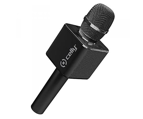 CELLY MICRO KARAOKE NEGRO MICRÓFONO INALÁMBRICO KARAOKE 6W BLUETOOTH USB REPRODUCTOR