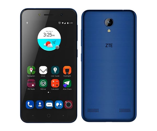 ZTE A520 AZUL MÓVIL 4G DUAL SIM 5'' IPS HD/4CORE/16GB/2GB RAM/8MP/8MP