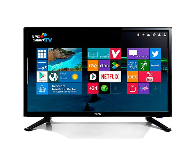 NPG TVS411L32H TELEVISOR 32'' LCD LED HD SMART TV ANDROID WIFI HDMI USB GRABADOR Y REPRODUCTOR MULTIMEDIA