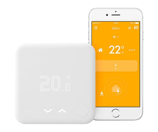 TADO TERMOSTATO INTELIGENTE - KIT DE INICIO (V3) DISPOSITIVO DE LA CALEFACCIÓN GEOLOCALIZACIÓN GOOGLE AMAZON APPLE IFTTT