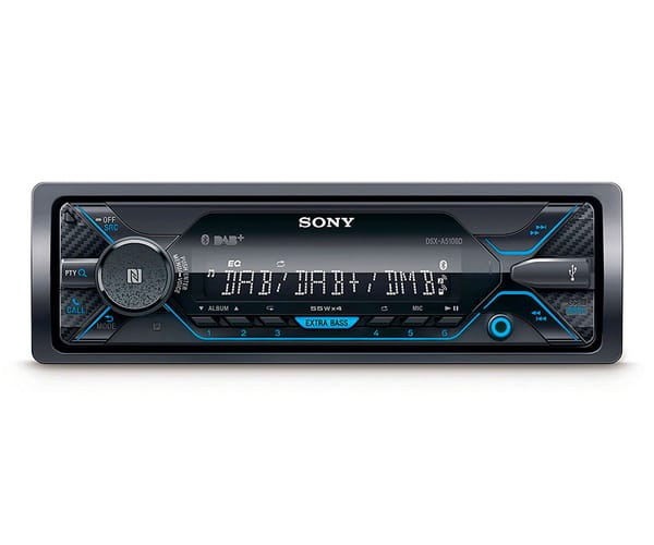 SONYX DSX-A510BD RECEPTOR DE MULTIMEDIA DAB+ BLUETOOTH 4x55W PARA EL COCHE CON CONTROL POR VOZ EXTRABASS USB Y AUX