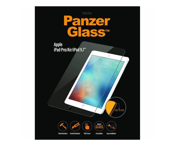 PANZERGLASS  PROTECTOR CRISTAL ULTRARESISTENTE EDGE TO EDGE APPLE iPAD PRO/AIR/iPAD 9.7″