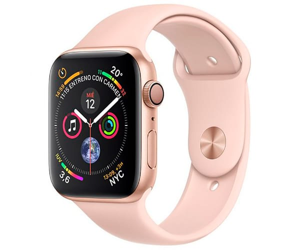 APPLE WATCH SERIES 4 ORO CON CORREA DEPORTIVA ROSA RELOJ 40MM SMARTWATCH 16GB WIFI BLUETOOTH GPS PANTALLA OLED