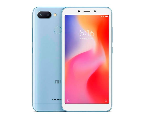 XIAOMI REDMI 6 AZUL MÓVIL 4G DUAL SIM 5.45'' IPS HD+/8CORE/64GB/3GB RAM/12MP+5MP/5MP