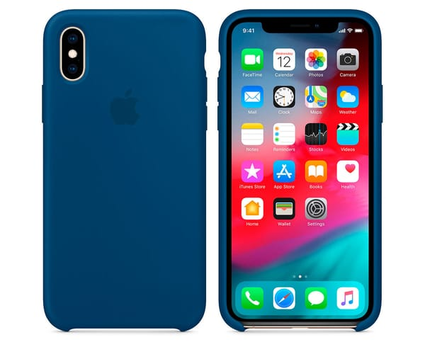 APPLE CARCASA AZUL HORIZONTE DE SILICONA APPLE IPHONE XS